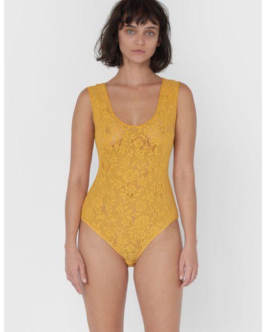 2cd2d717b5040 Araks - Yellow Tabitha Bodysuit Saffron - Lyst ...