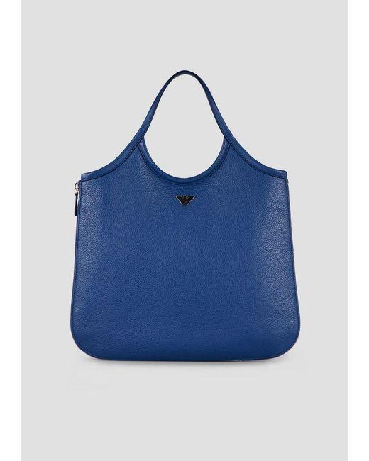 Emporio Armani - Blue Hobo Bag - Lyst ... 9c91822bf978c