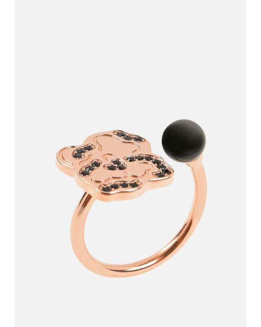 Emporio Armani - Black Ring - Lyst