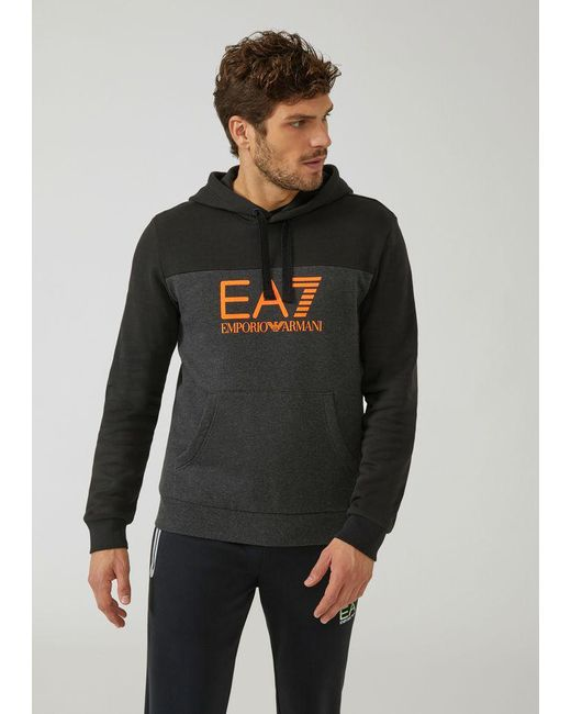 a923f3bfb99 Emporio Armani - Gray Hoodie for Men - Lyst ...
