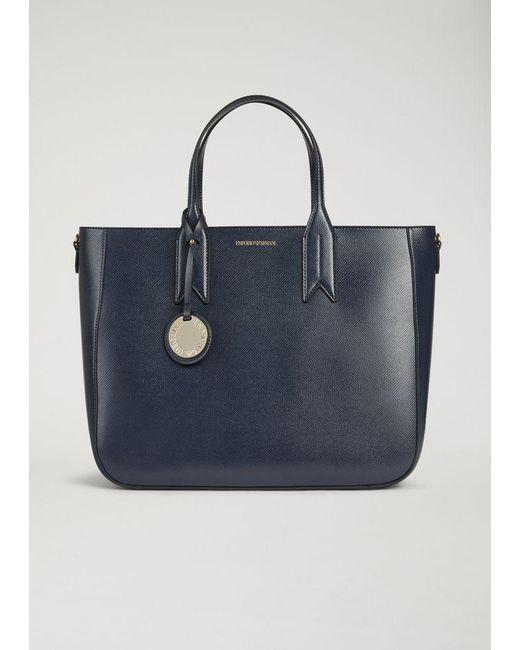 Emporio Armani - Blue Top Handle - Lyst ... 1eaf178a96
