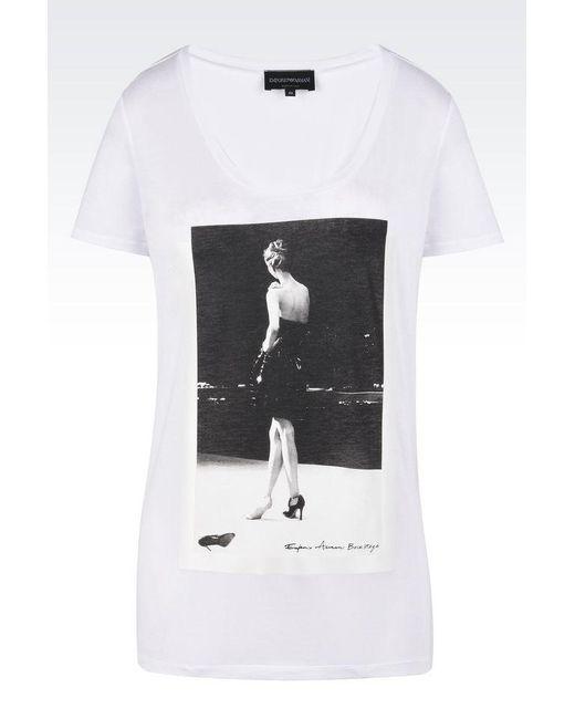 Emporio Armani | White Short-sleeve T-shirt | Lyst