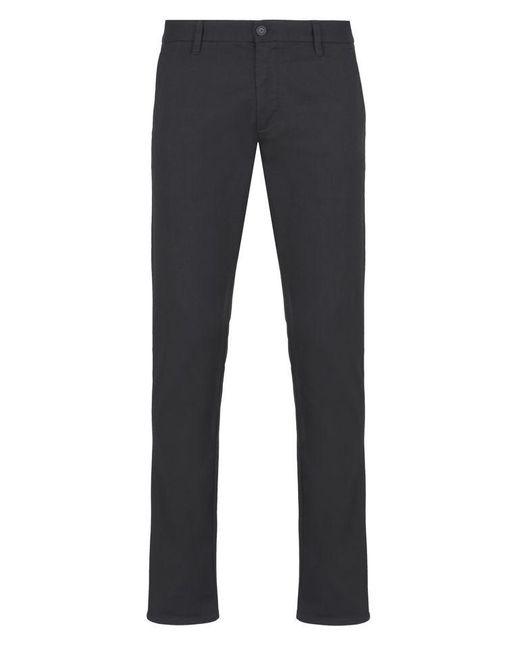 Armani Jeans | Black Straight Leg Pant for Men | Lyst