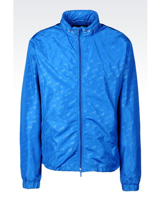 Armani Jeans   Blue Bomber Jacket for Men   Lyst