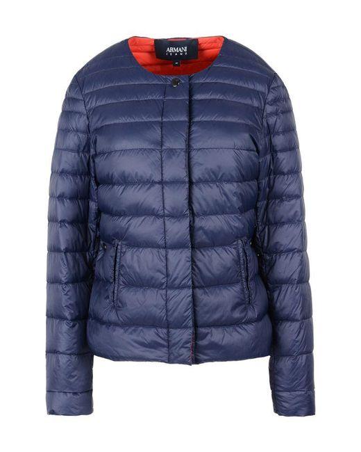 Armani Jeans | Blue Down Jacket | Lyst