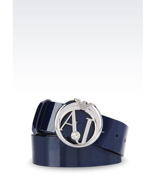 Armani Jeans | Metallic Textile Belt | Lyst