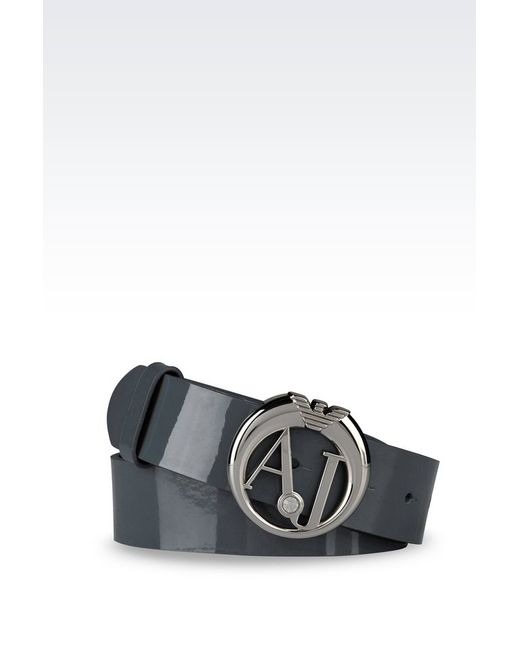 Armani Jeans | Green Leather Belt | Lyst