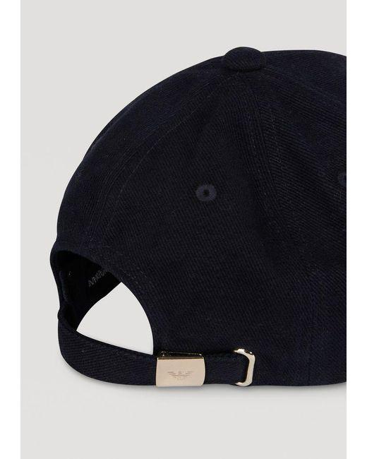 fdb5911f582 Lyst - Emporio Armani Cap in Blue for Men - Save 10%