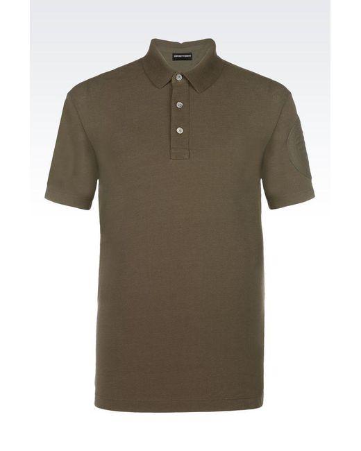 Emporio Armani   Green Short-sleeved Polo Shirt for Men   Lyst
