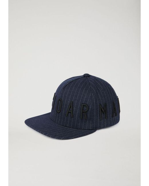 043f7b1b08d Emporio Armani - Blue Cap for Men - Lyst ...