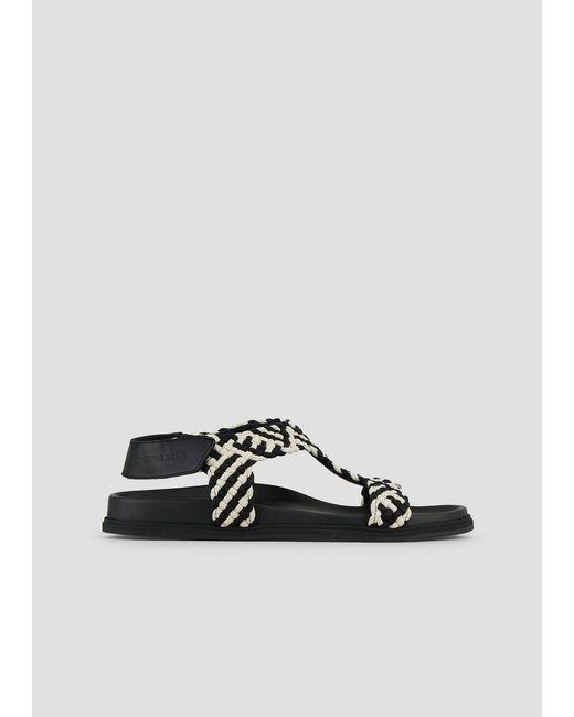 4362a6ead Emporio Armani - Black Sandals for Men - Lyst ...