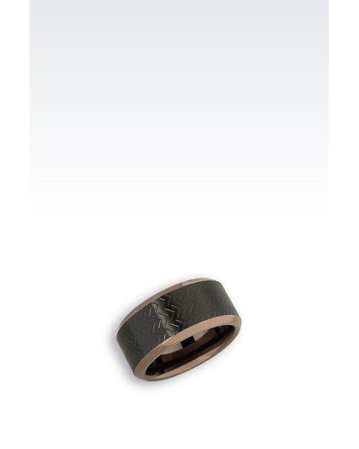 Emporio Armani   Black Ring   Lyst