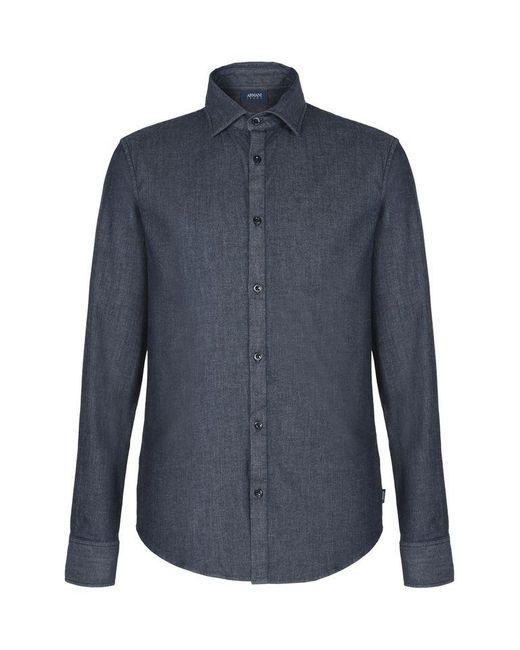 Armani Jeans | Blue Long Sleeve Shirt for Men | Lyst