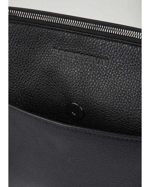 ... Emporio Armani - Black Pouch for Men - Lyst ... ce2a616efd466