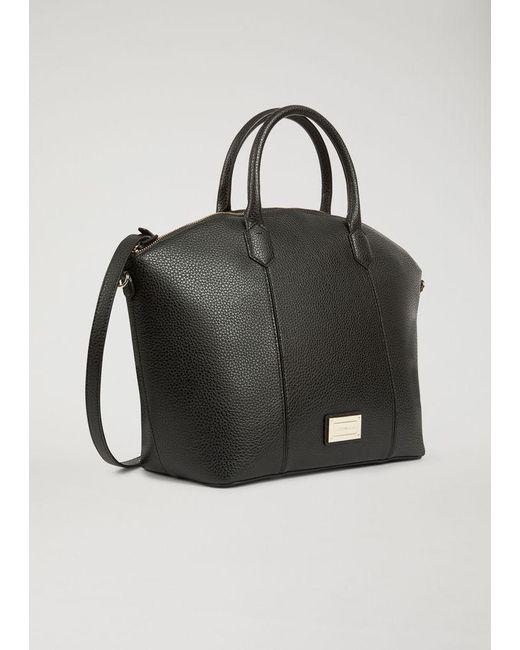 Emporio Armani - Black Top Handle Grainy Dome Handbag Big Handbag - Lyst ... c7802a396b