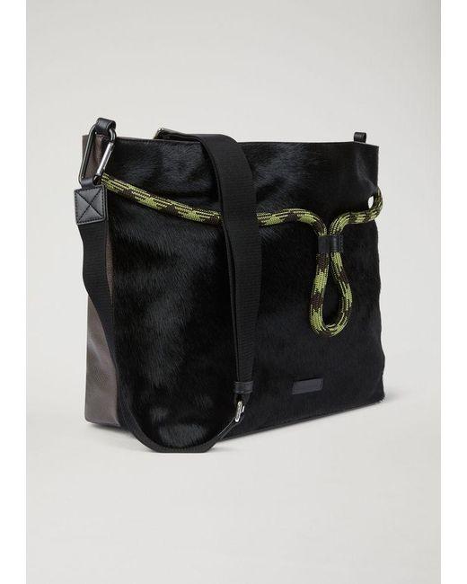 ... Emporio Armani - Black Hobo Bag for Men - Lyst ... 002da28910f7b