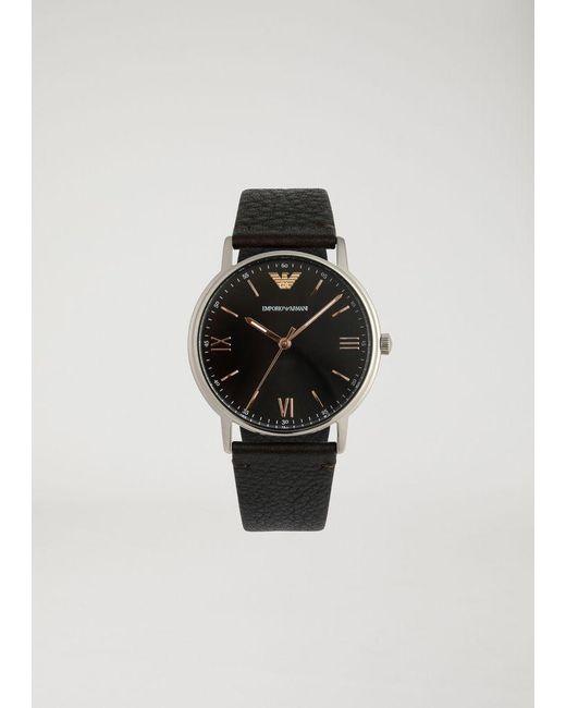 58f85a4cb Emporio Armani - Brown Watch for Men - Lyst ...