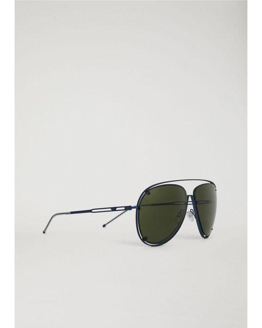 fdcfeec688 Emporio Armani - Green Sunglasses for Men - Lyst ...