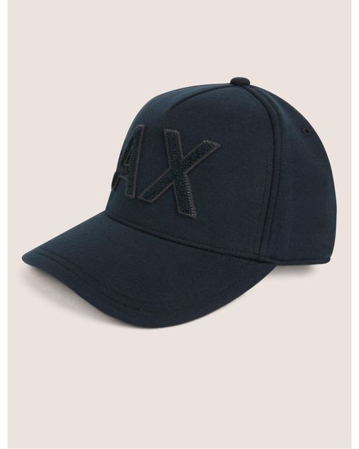 e8104e088ad Armani Exchange - Blue High-pile Logo Hat for Men - Lyst ...