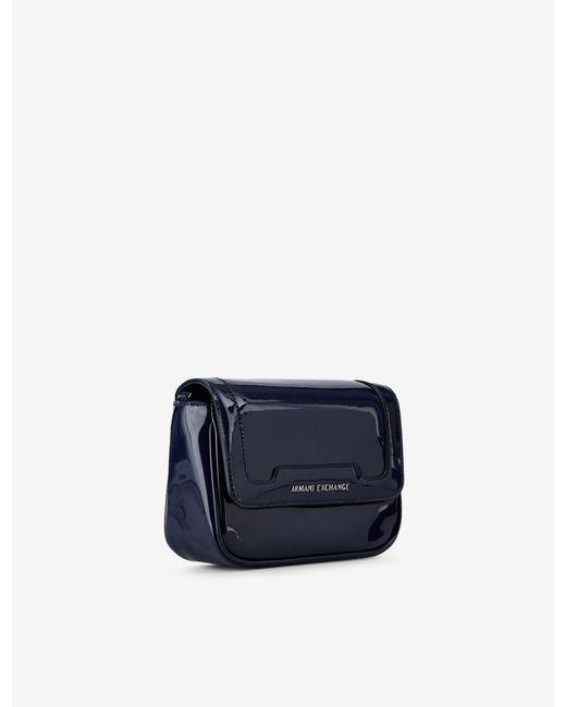 1d10236b3e7 ... Armani Exchange - Blue Bag With Chain Strap - Lyst ...