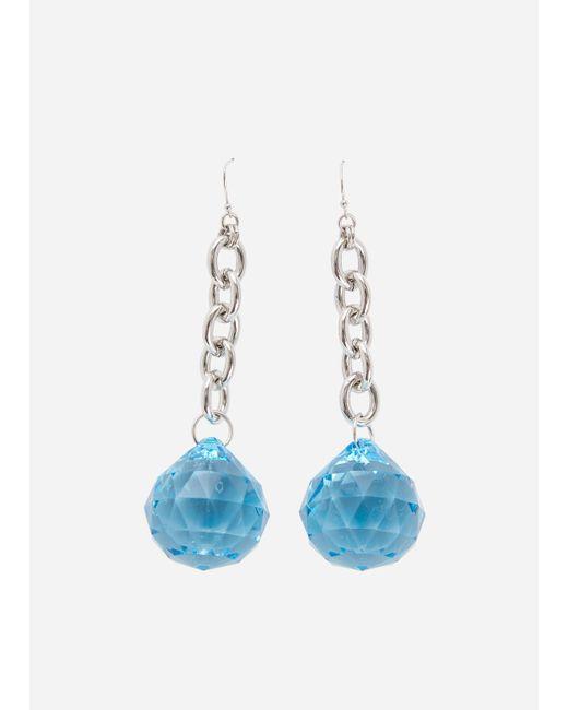 Ashley Stewart - Blue Bauble Drop Earrings - Lyst