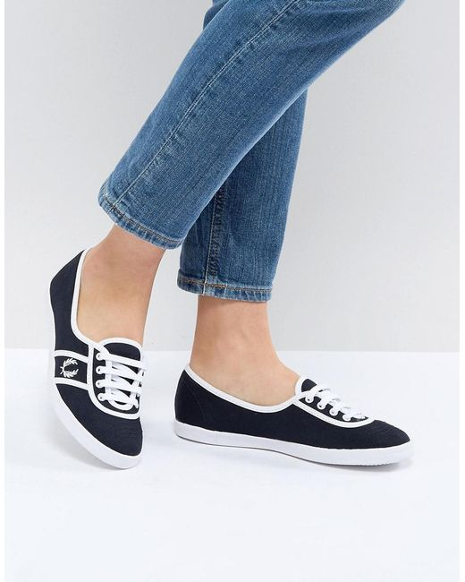 Fred Perry - Blue Aubrey Color Block Sneakers - Lyst