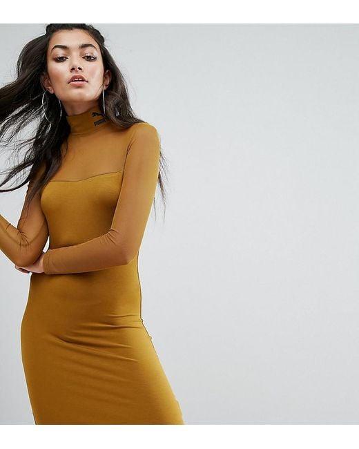 PUMA - Green Exclusive To Asos Bodycon Mesh Dress - Lyst