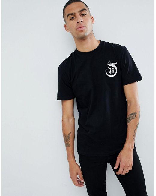 D-Struct - Black Graphic Single Jersey T-shirt for Men - Lyst