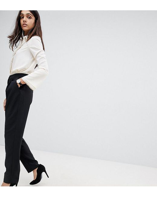 ASOS - Black Elasticated Clean Tapered Trouser - Lyst