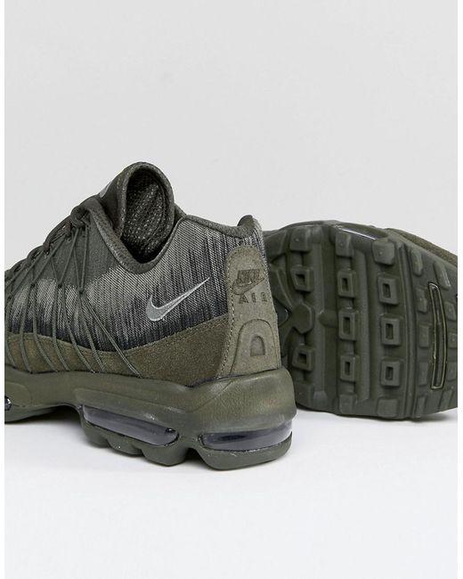 ... Nike - Air Max 95 Ultra Jacquard Sneakers In Green 749771-301 for Men -