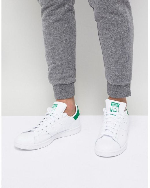 best loved 360ad 17f81 Adidas Originals - Stan Smith Leather Trainers In White M20324 for Men -  Lyst ...