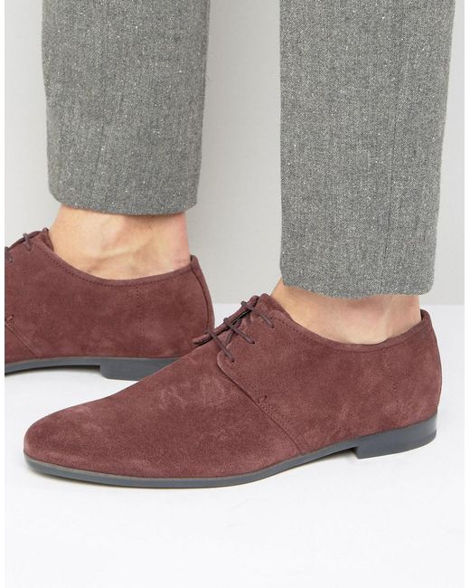 HUGO | Red By Boss Paris Suede Derby Shoes for Men | Lyst