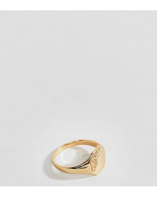 Rock N Rose - Metallic Sterling Silver Gold Plated Ornate Pinky Ring - Lyst