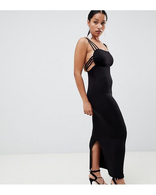 Lyst Asos Asos Design Petite Cage Back Maxi Dress In Black