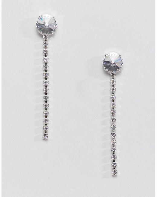 Krystal London - Metallic Swarovski Crystal Longline Drop Earrings - Lyst