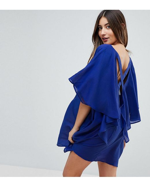 ASOS - Blue Lattice Back Beach Cover Up - Lyst