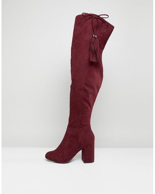 New Look Tassel Over The Knee Boot