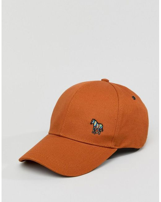 c67260d018a ... PS by Paul Smith - Brown Zebra Logo Baseball Cap In Tan for Men - Lyst
