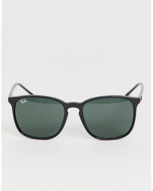 22d8c28117b ... Ray-Ban - Black 0rb4387 Oversized Square Sunglasses for Men - Lyst