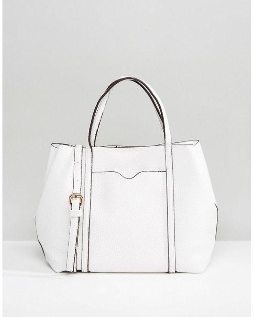 Mango | White Mini Slouch Cross Body Bag | Lyst