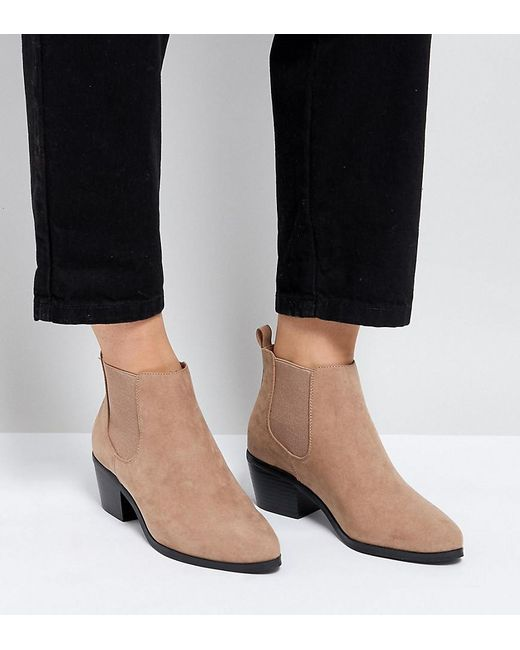 b6bf1fcbd52a ASOS - Natural Asos Revive Wide Fit Chelsea Ankle Boots - Lyst ...
