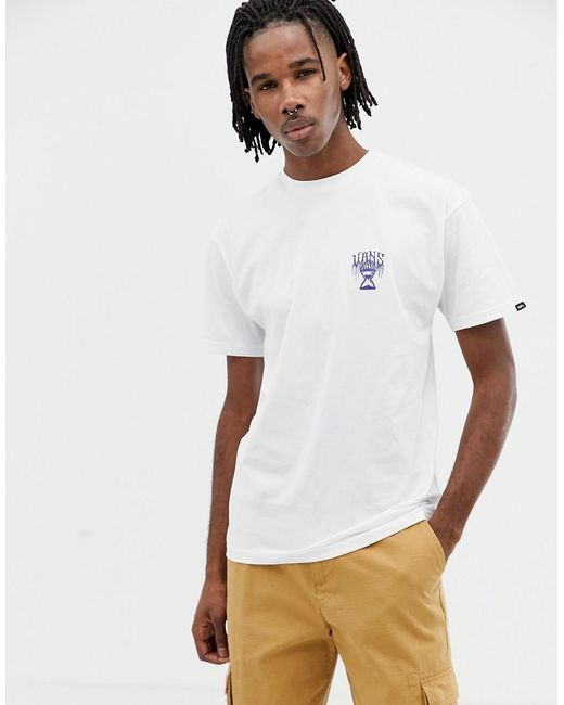 12ff499127f756 ... Vans - T-shirt With Reaper Back Print In White Vn0a3hxuwht1 for Men -  Lyst