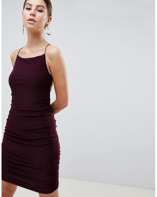 AX Paris - Purple Sqaure Neck Mini Dress - Lyst