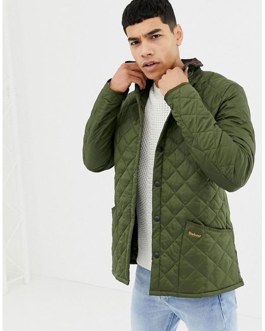 Barbour - Green Heritage Liddesdale Quilted Jacket In Olive for Men - Lyst