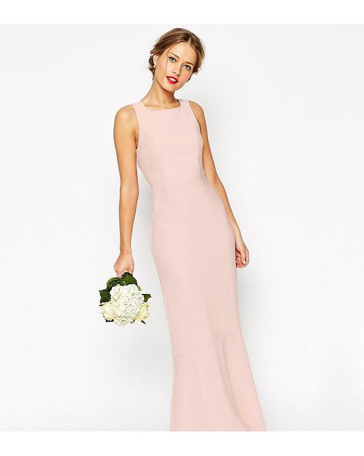 ASOS   Pink Wedding Maxi Dress With Fishtail   Lyst