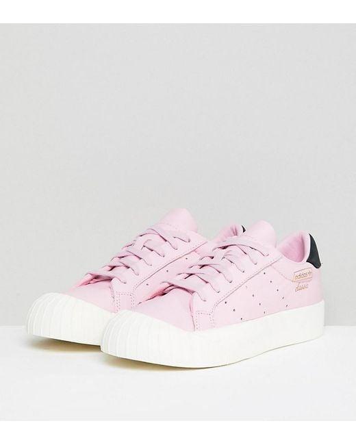 8df4e39a2ef8c Adidas Originals - Black Everyn Sneakers In Pink - Lyst ...