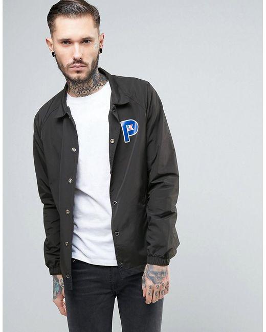 Penfield Howard Coach Jacket Nylon P Logo In Black in ...