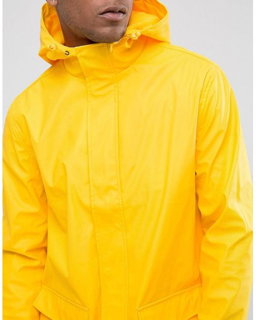 French Connection Rain Mac In Yellow For Men Lyst