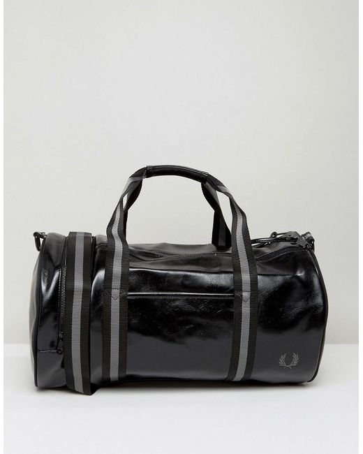 Fred Perry | Classic Barrel Bag In Black for Men | Lyst