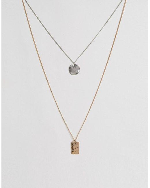 ASOS | Metallic Geometric Necklace Pack for Men | Lyst